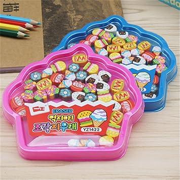 Caja de 4/Set kawaii Cute Animal caja forma papelería gomas de ...