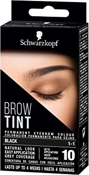 Schwarzkopf Brow Tint - Tinte De Cejas Negro Tono 1.1 ...