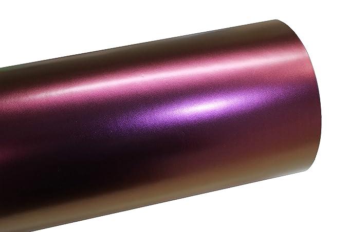 (10,56€/m²) BS01 Chamäleon Purple Folie Matt BLASENFREI Luftkanäle Auto Folieren (100 x 142cm)
