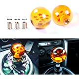 AURELIO TECH Universal Dragon Ball Z Shift Knob 7 Star Dragon ball Styling Shift fit for most manual transmission cars coming with 8X1.25 10X 1.25 10X1.5 adaptor