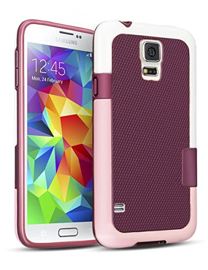 sale retailer 353c7 5951e TILL Galaxy S5 Case, (TM) Hybrid Impact 3 Color Rugged Case, Soft PC Bumper  + Soft TPU Back Shockproof Protective Slim Cover Shell for Samsung Galaxy  ...