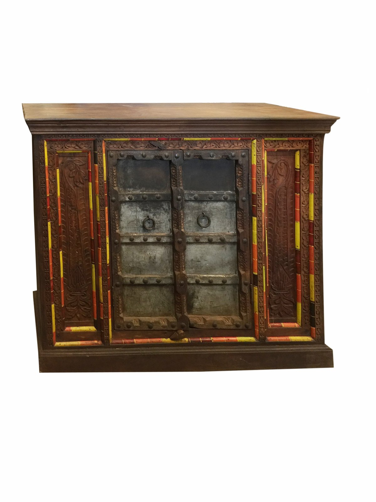Antique Distressed Cabinet Jharoka Double Door Designs Sideboard Chest Rustic Boho Shabby Chic Decor