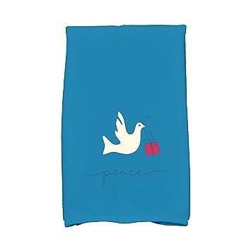 E por diseño Coastal Navidad paloma de la Paz Animal Print toalla de cocina