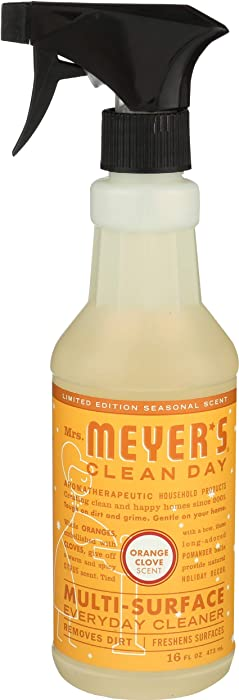 Mrs. Meyer's Clean Day Multi-Surface Everyday Cleaner, Cruelty Free Formula, Orange Clove Scent, 16 oz