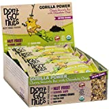 Don't Go Nuts Nut-Free Organic Snack Bars, Gorilla Power, 12 Count, Chewy Granola Bar with Chocolate Chips