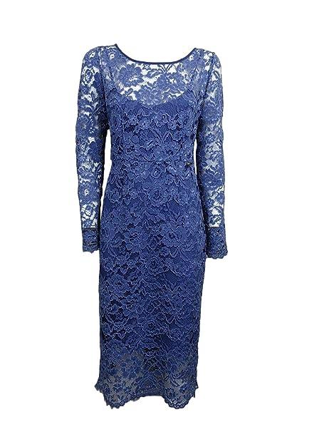 online store 4041c 99420 Liu Jo Abito Vestito da Donna in Pizzo -70% Celeste Polvere ...