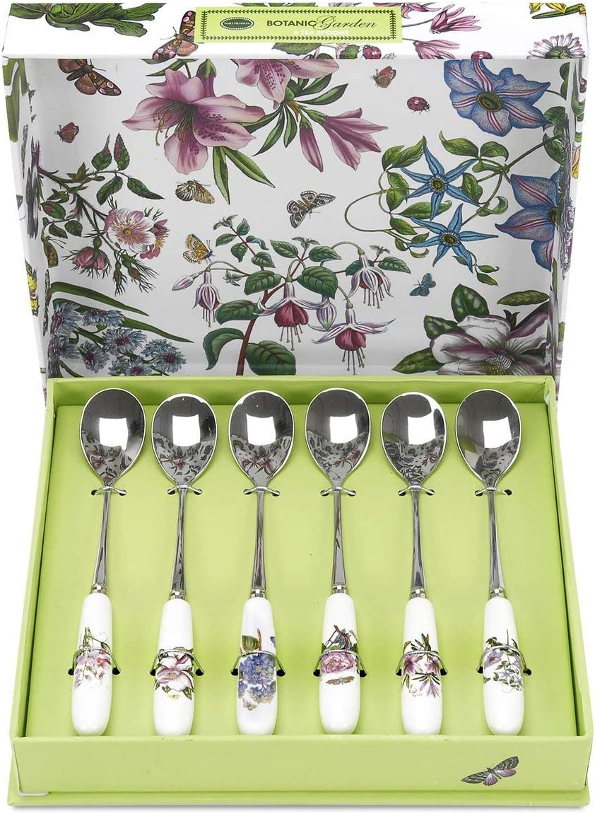 Portmeirion Botanic Garden Tea Spoons, Set of 6