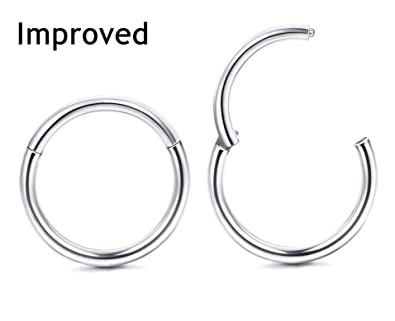 Amazoncom Thunaraz Improved 2pcs 18g Stainless Steel Cartilage