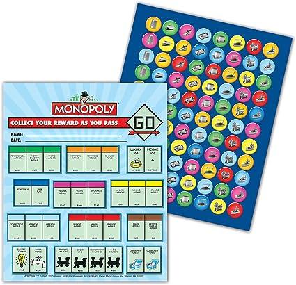 Eureka Monopoly Mini premiar con pegatinas (837429): Amazon.es: Oficina y papelería