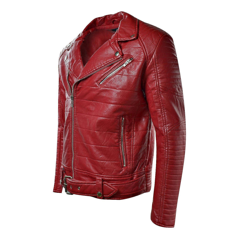 5ff9a4c4dfb7d2 Jordan Craig Men s Moto Jacket Red 91243A at Amazon Men s Clothing store