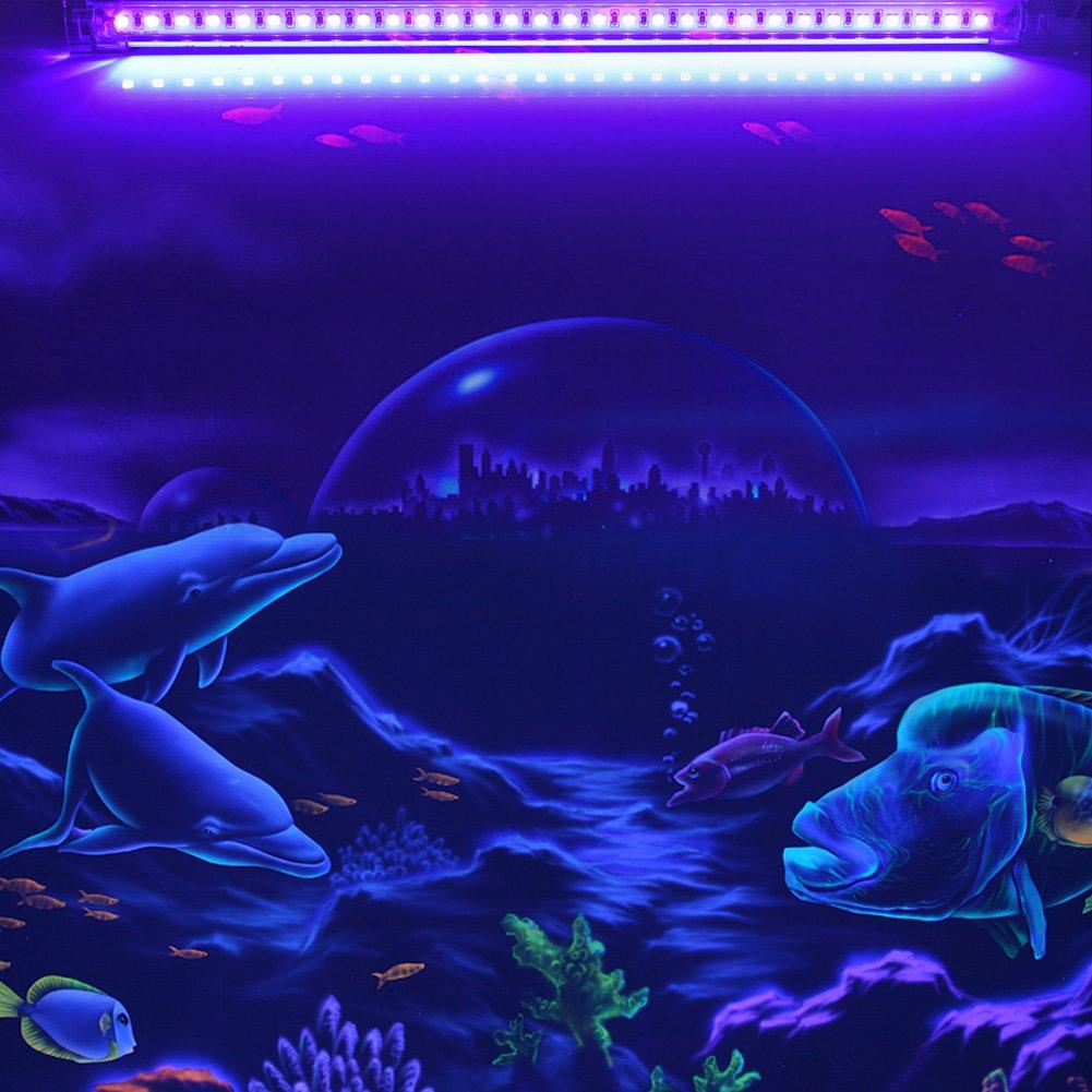 Arte UV UV LED Blacklight Viugreum L/ámpara de Luz Negra Port/átil 6W para Partido Halloween Autenticaci/ón de Moneda, Club Curado Ultravioleta Navidad