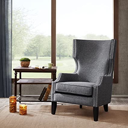 Amazon.com: Madison Park FPF18-0394 Brighton Modern Wing Chair ...