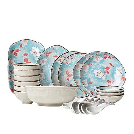 Bol platos de vajilla de cerámica - apta para lavavajillas y ...