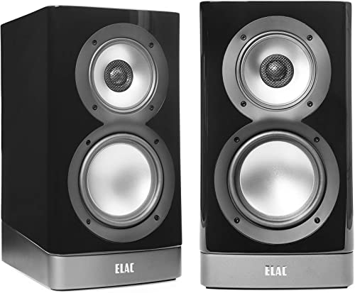Elac ARB51-GB Navis Premium Powered Bookshelf Speakers – Pair Gloss Black