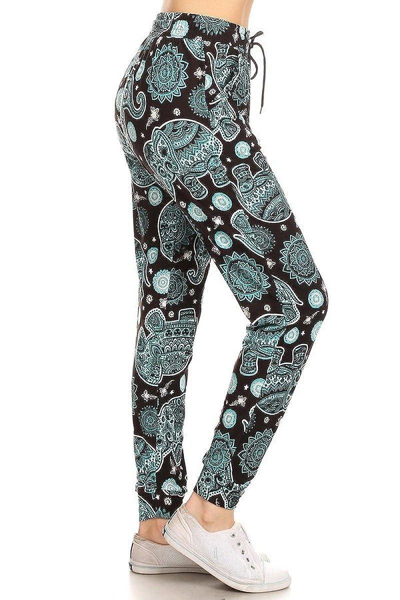 d6cc6eb71390a Leggings Depot Premium Jogger Women's Popular Print High Waist Track Pants(S -XL)