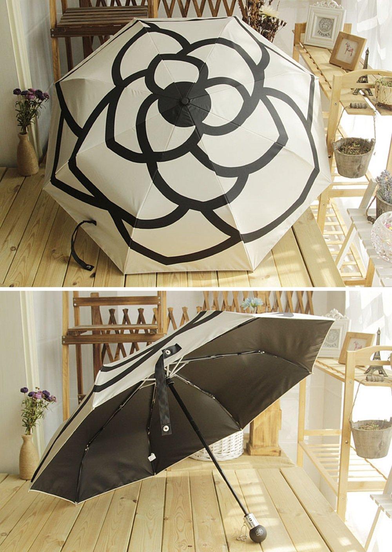 Sol Y Paraguas Con Compactos Aluminio Del Recorrido Tri-Fold ...