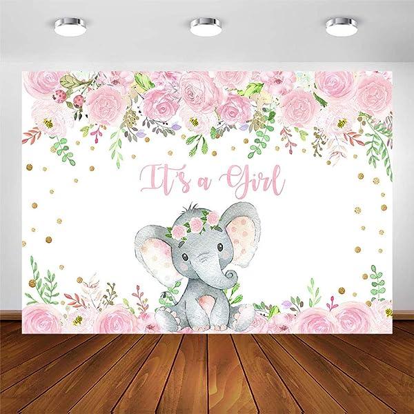 7/×5ft Vinyl Photography Backdrop Elephant Circus Backdrop Banner Photography Background Backdrop Product Photo Backdrop Backdrop for Girl//Boy Baby Shower Wall Photo Background Background Wall Dr