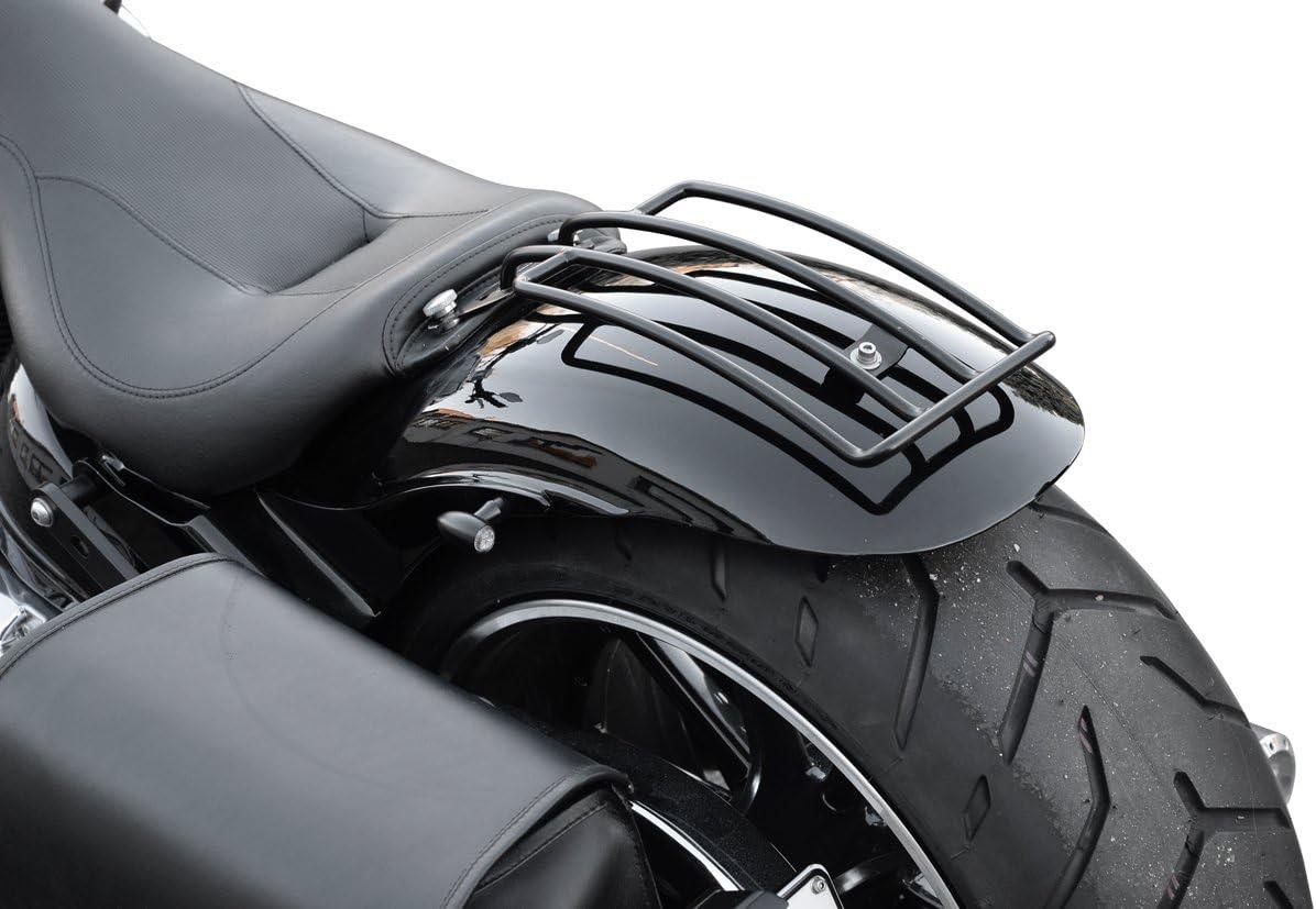 Gepäckträger Schwarz Softail Solositz Speziell Für Heritage Springer Classic Deluxe Breakout Und Fatboy Außer Heritage Springer Harley Davidson Buffalo Bag Auto