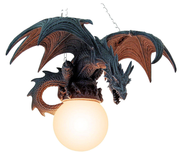 Lámpara de techo con dragón