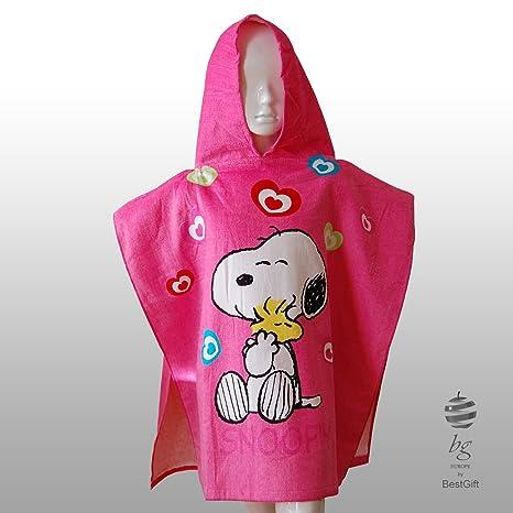 Kid s Niñas regalo baño piscina playa Poncho con capucha – Snoopy