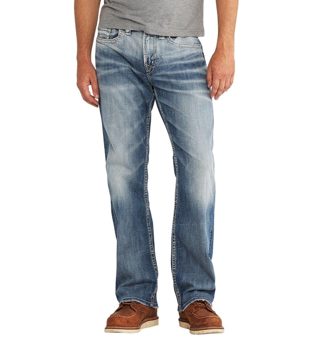 Silver Jeans Men's Craig Easy Fit Bootcut, Medium Vintage, 33 x 34