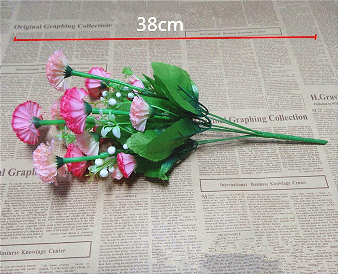 Amazon Mynse 3 Pieces 14 Heads Cute Silk Flowers Bouquet For