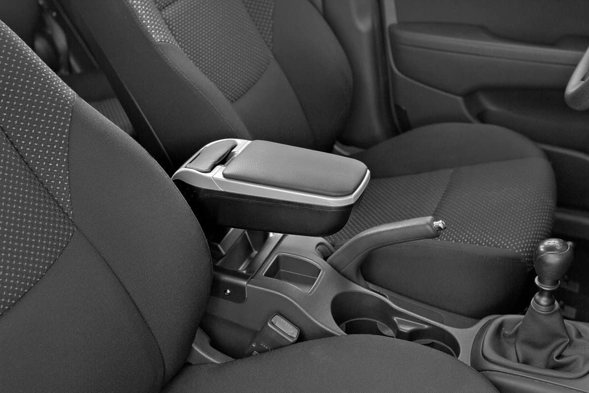 2010-2017 ARMSTER V00392 Armrest Black//Gray Specific car Suzuki Swift with compartments and Folding