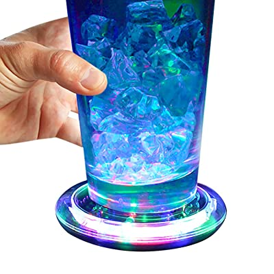 Set of 6 Flashing Panda Light-Up Flashing Multi-Color Infinity Tunnel LED Drink Coasters/Display Bases: Everything Else