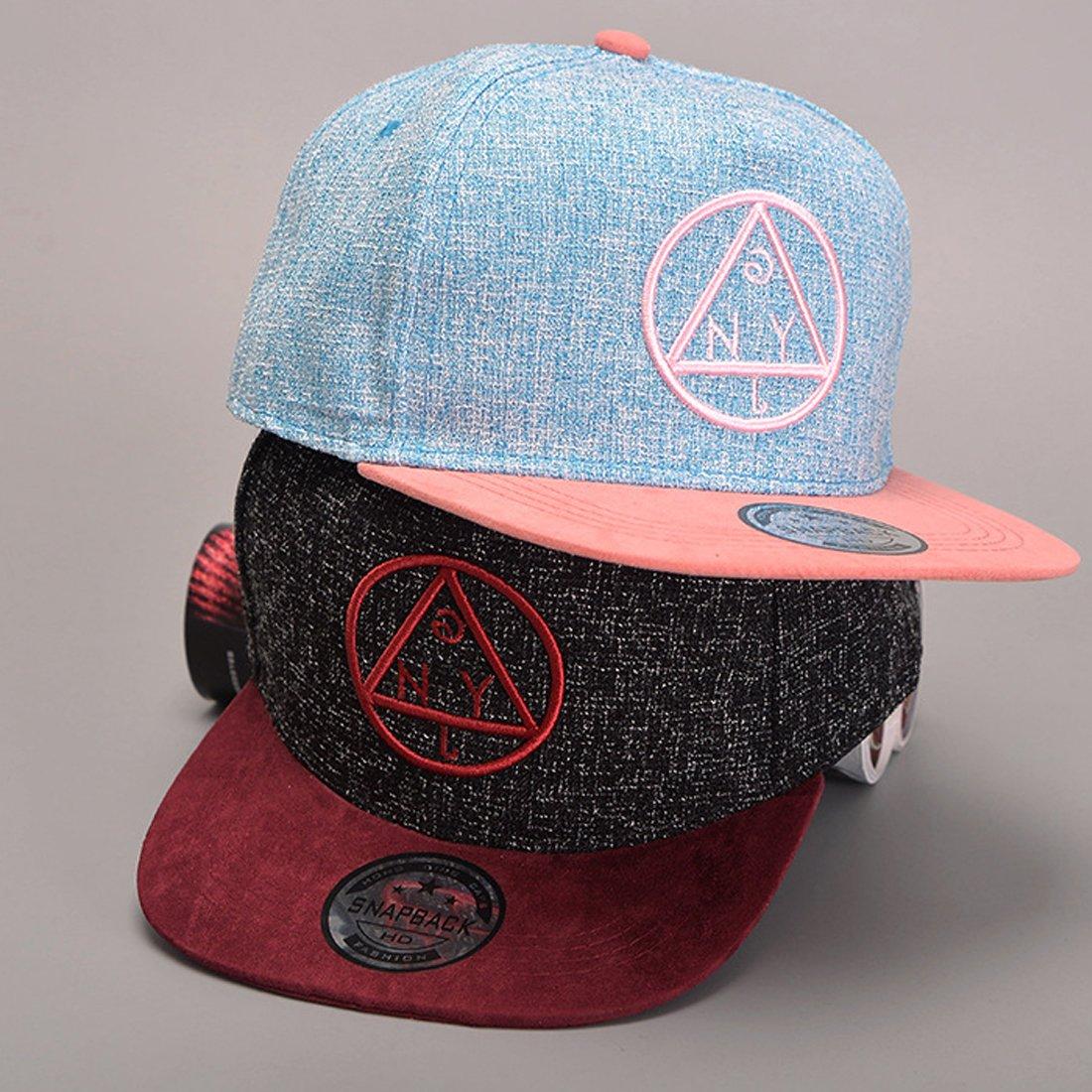 Belsen unisex Hip Hop modello triangolare Cappello Baseball Cap piatto a tesa bambino, blu