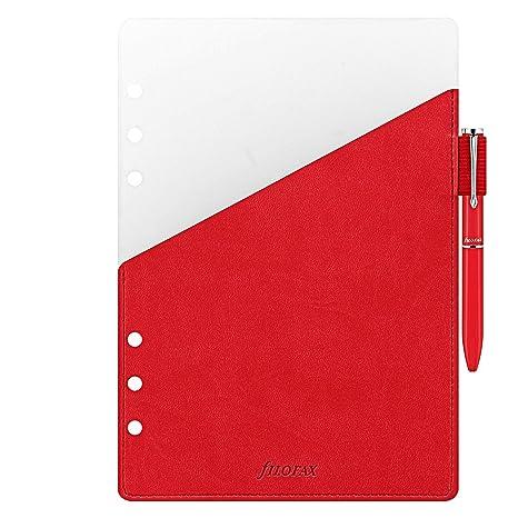 Filofax - Agenda (A5, Pen Loop, color rojo: Amazon.es ...