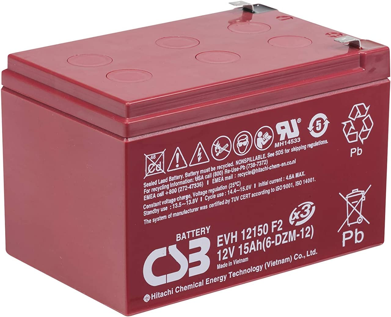 6V 12Ah F2 Sealed Lead Acid Replacement Battery Set for Tripp Lite BC Pro 850VA BCPRO850 by UPSBatteryCenter Set of 3