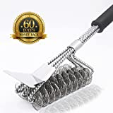 """18"""" Barbecue Grill Brushes-AISFA Satinless Steel Wire BBQ Cleanning Brush For Charcoal, Pellet, Infrared & Gas Grills Durable & Effective"""