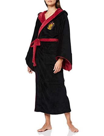 Negro Harry Potter Gryffindor Cresta de los Hombres con Capucha Bata: Amazon.es: Ropa y accesorios