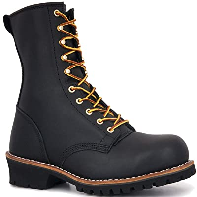 ROCKROOSTER Mens Work Boots, Waterproof Non-Slip Oiled Safety Shoes, Puncture Resistant, Coolmax, Poron XRD, ASTM F2413, Anti-Fatigue, Pre-Stock | Industrial & Construction Boots