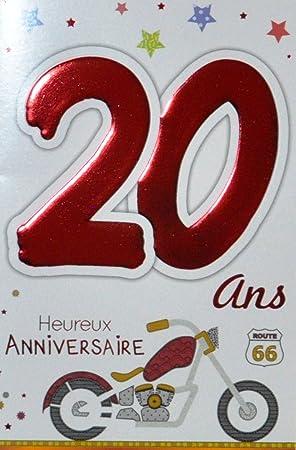 Carte pour anniversaire 20 ans
