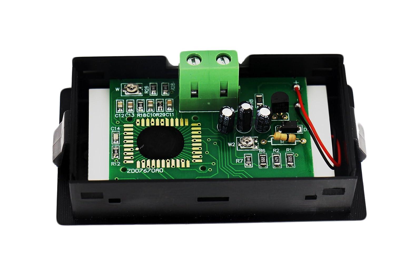 Riorand Lcd Digital Volt Voltage Panel Meter Voltmeter Cen Tech 7 Function Multimeter For Electronic Circuit Battery 75v 20v Home Improvement