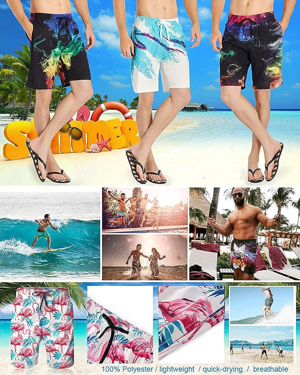 XINGAKA Mens Big /&Tall Swim Trunks Board Shorts Essentials Beachwear Quick Dry,