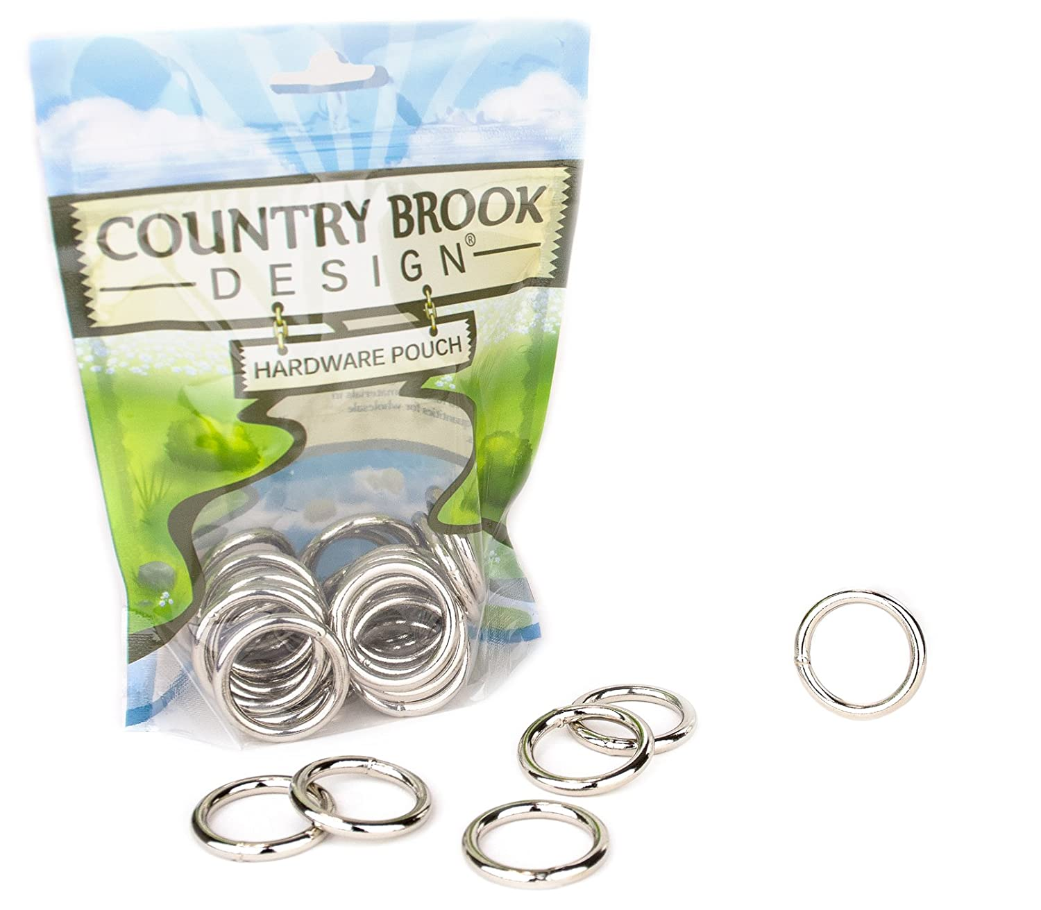 Country Brook Design 50 1 Inch Welded Heavy O-Rings ORW-NIC-1-50