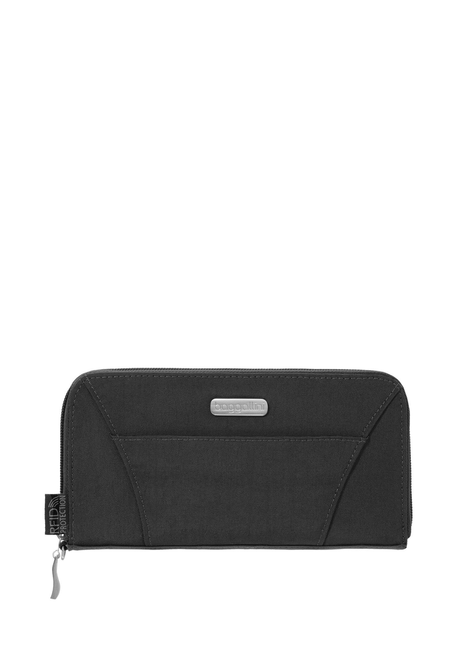 Baggallini RFID Travel Wallet, Black, One Size