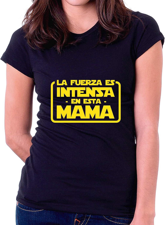 XL - Entallado Custom Vinyl Camiseta Dia de la Madre La Fuerza es intensa en Esta Mama