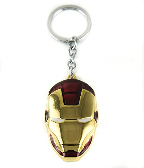 lzy-store Tony Stark Iron Man o War Machine Casco Llavero ...