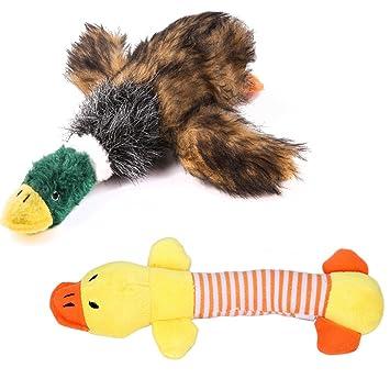 PET SPPTIES Mascotas Perros Juguete Mordedor Felpa pato Sonida Forma Pato para Gatos Perros Mascotas,