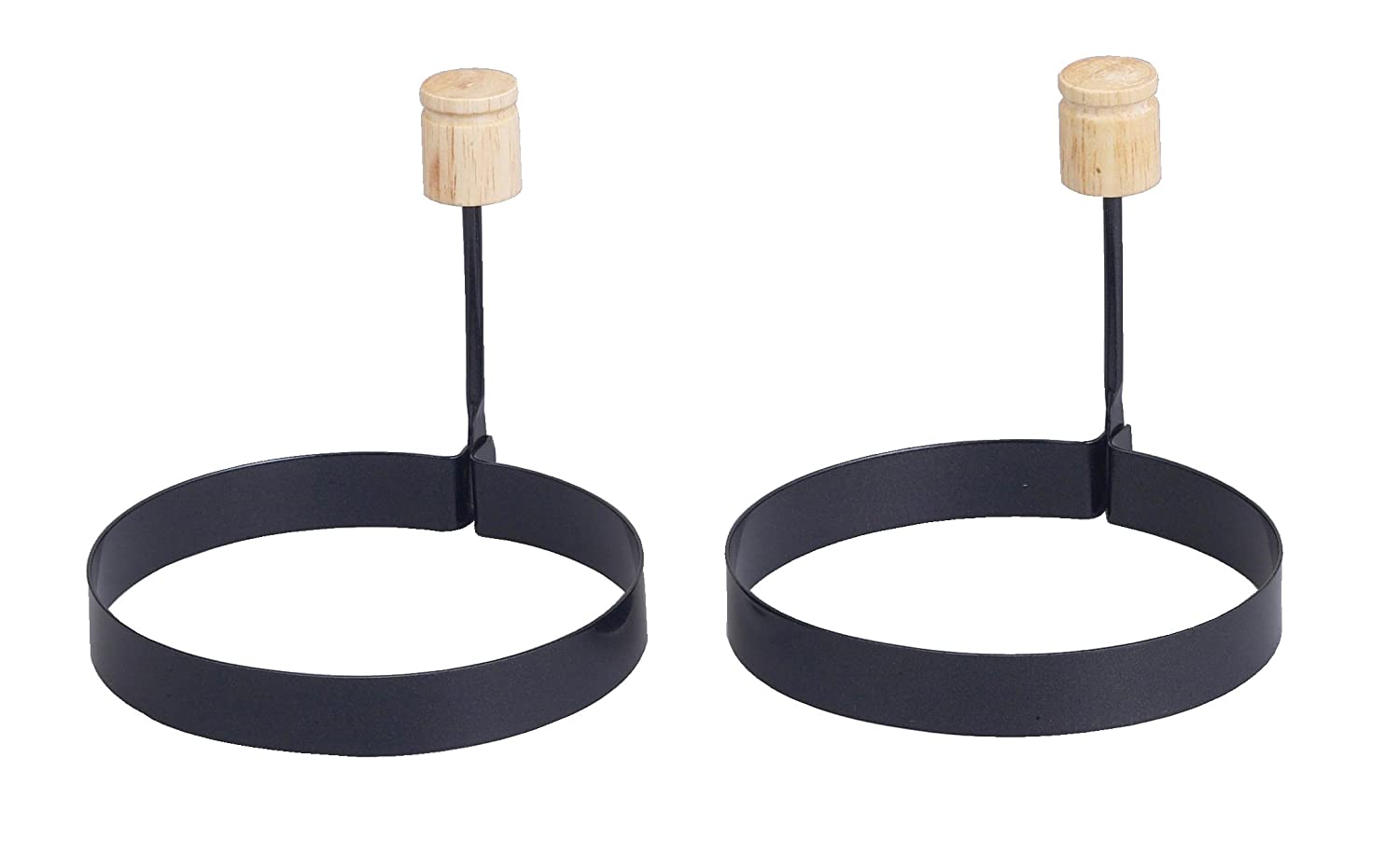 PFOA and BPA Free 43114//2 Round Shaped Nonstick HIC Non-Stick Fried and Poached Egg and Pancake Cooking Rings 3.75-Inches Diameter Set of 4 HIC Harold Import Co