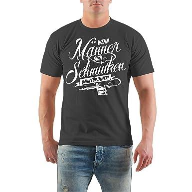 Männer und Herren T-Shirt Männer Tattoo Spruch (mit Rückendruck) Größe S -  8XL: Amazon.de: Bekleidung