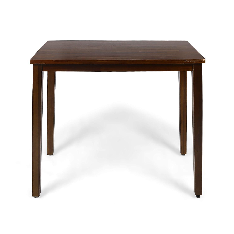 Christopher Knight Home Taylo Contemporary Acacia Wood Bar Height Table, Rich Mahogany Finish