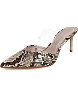 1ab2383beb48c Zara Femme Chaussures à Talons Ouvertes à l arrière à imprimé Animalier et  Vinyle 2232