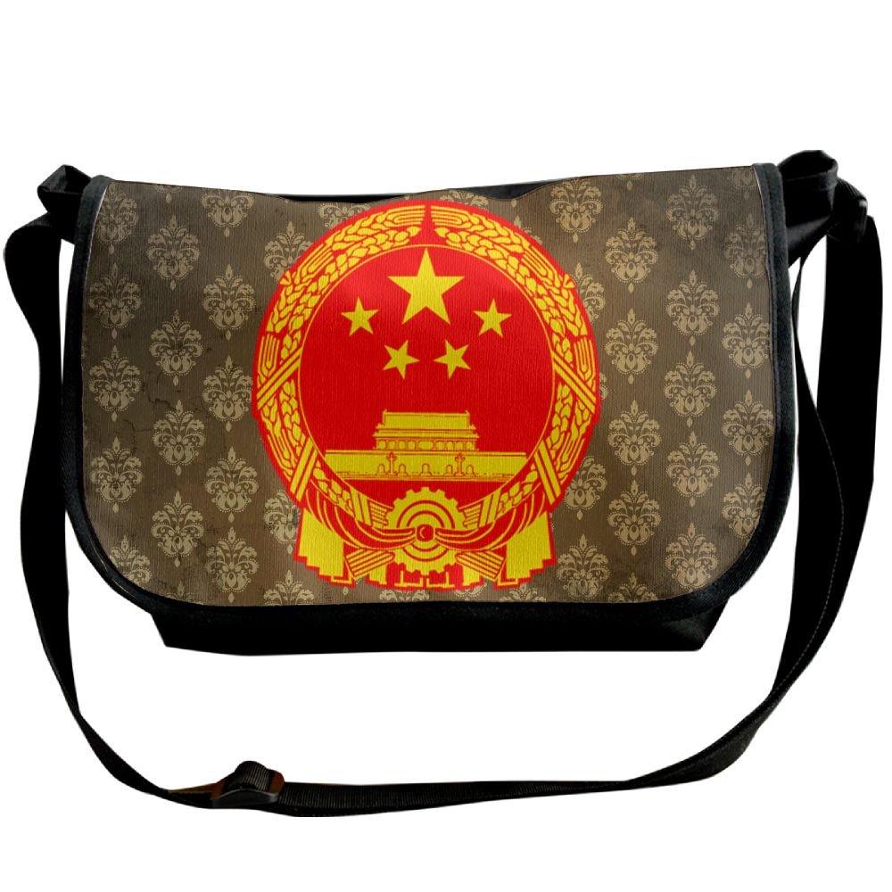 Lov6eoorheeb Unisex Coat Of Arms Of China Wide Diagonal Shoulder Bag Adjustable Shoulder Tote Bag Single Shoulder Backpack For Work,School,Daily