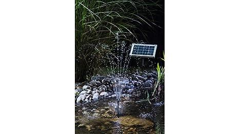 Esotec kit pompa solare con batteria tampone con illuminazione