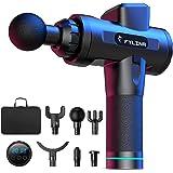 FYLINA Handheld Muscle Massage Gun, 20 Speeds Deep Tissue Massager, Noise-Cancelling, LED Indicator Touch Screen…