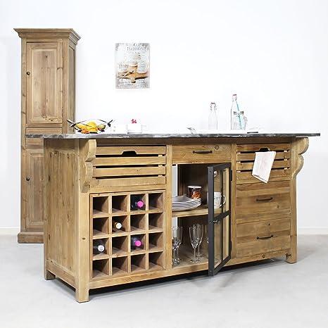 Centro de cocina Range botella authentiq Pin reciclado | KH220, madera, 75